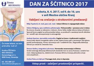 Vabilo DAN ZA ŠČITNICO 2017