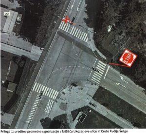 Ureditev prometne signalizacije na Likozarjevi ulici in Cesti talcev