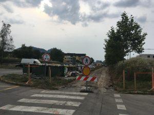 Zapora javne poti – gradnja kolesarskih poti